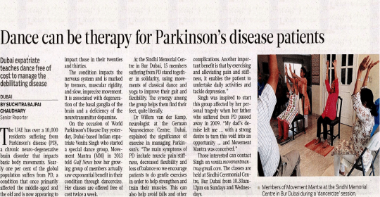Dance is therapy for Parkinson's disease patients – Gulf News Dubai
