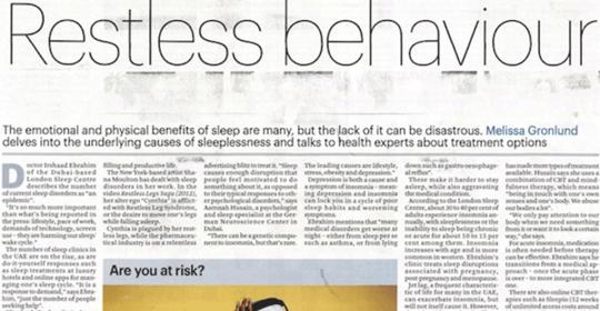 Restless Behavior – Insomnia In The UAE
