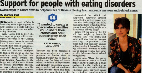 Support for people with eating disorders in UAE
