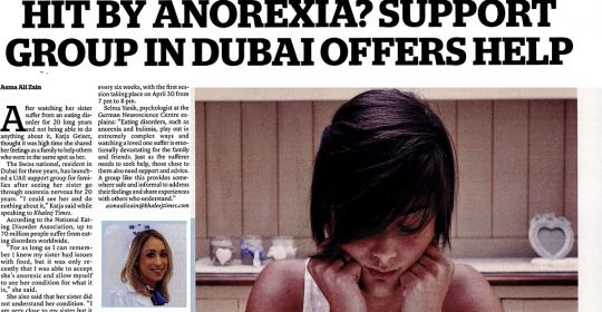 Eating Disorder Support Group In Dubai – Khaleej Times